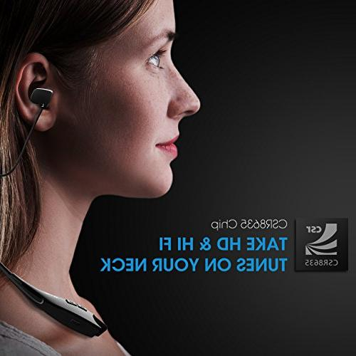Mpow Jaws Headphones Headset Cell Phone/Tablets/TV