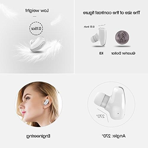 DACOM Smallest Mini Invisible V4.1 Wireless Bluetooth Headset Headphone Earphone with Hands-Free Calls Samsung and