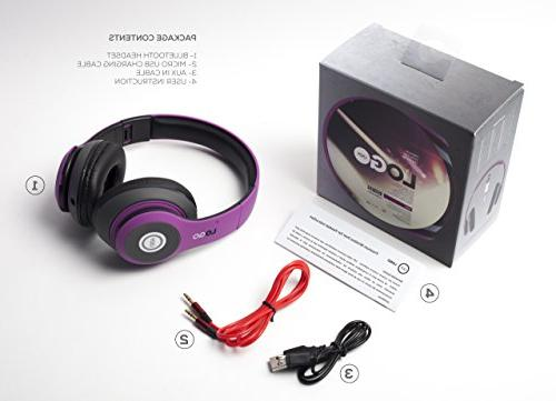 iJoy Bluetooth Foldable Over Ear Headphones with Mic, EDM