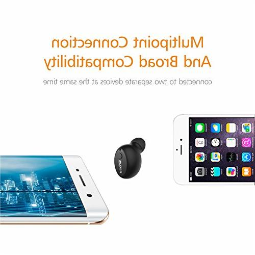 FOCUSPOWER Mini Earbud Smallest Headphone Playtime Headset Mic iPhone and Android