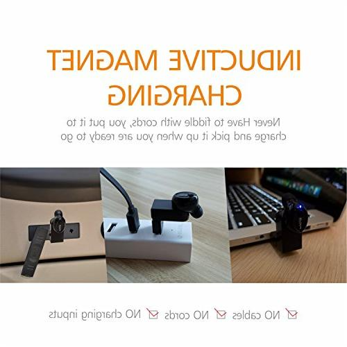 FOCUSPOWER F10 Earbud Wireless Headphone Playtime Headset Mic for iPhone Android Smart Phones