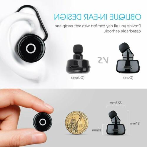 MPOW Headset In-Ear Wireless Business Headphone Earbud