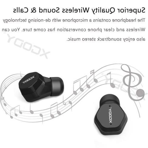 Mini Earbuds w/Mic Twins Earphone