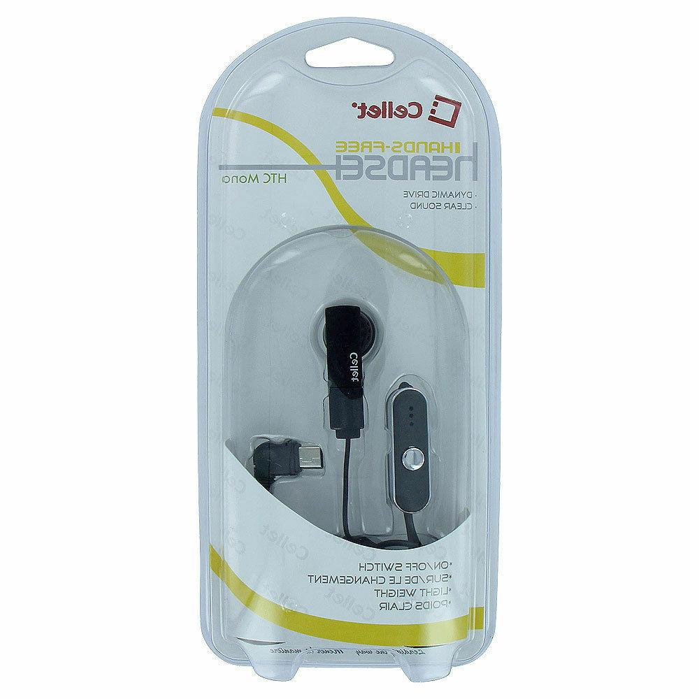 Cellet Earpiece Headset with Mic & Button for HTC