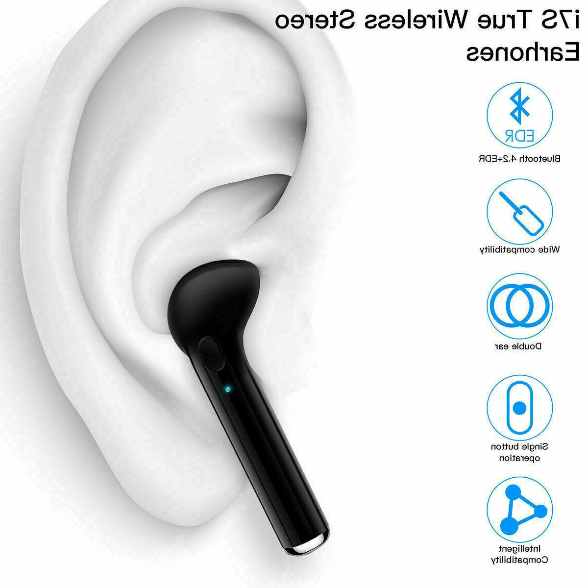 Premium Airpods Style Bluetooth Wireless w/ Case Headphones