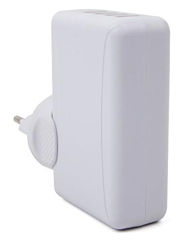 Quad-Port with EU Wall Adapter Compatible with the Bluetooth Earbuds Everlite SHB4805 SHB3075 Philips - by