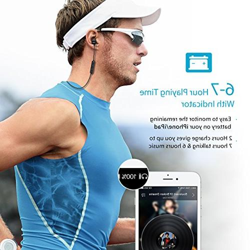 Mpow S3 Magnetic Headphones, Wireless Earbuds Sport Headphones Noise Cancelling Mic, Fit Gym Running Workout
