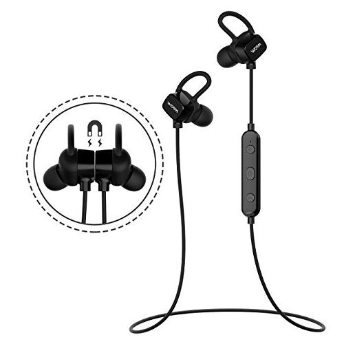 Mpow S3 Magnetic Headphones, IPX5 Earbuds Sport Noise Headsets Mic, & Fit Running