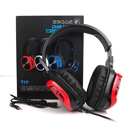 JP-DPP9 SADES R17 Gaming Headset Over-Ear Headphone with