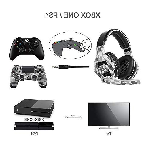 SADES Gaming Headset for PS4, One Over Ear Headphones Mic, Surround, Memory for Mac