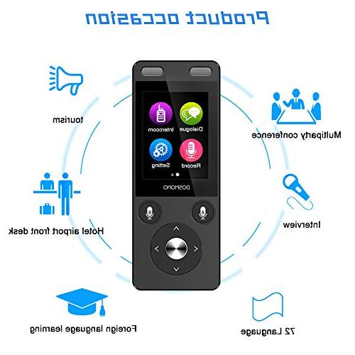 WiFi&4G IPS Capacitive Touch Way Digital Voice Translator 72 Travel
