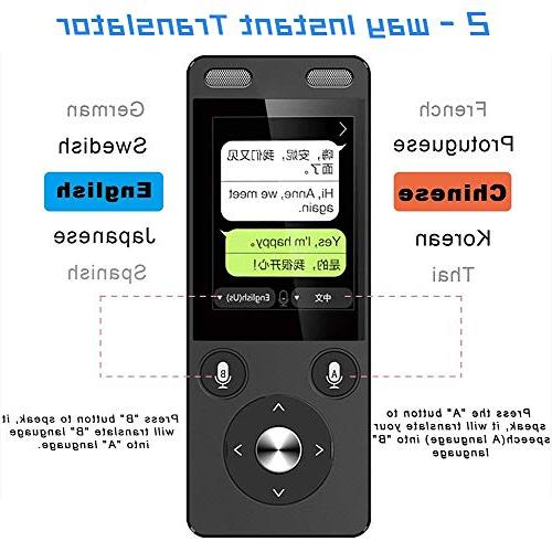 Smart Voice WiFi&4G 2.4 Capacitive Touch Two Way Instant Digital Voice Translator Recorder Intercom 72 Travel Shopping