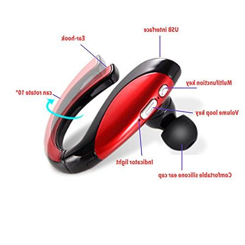 Sport Bluetooth Earphones in-Ear Mic for Bluetooth Devices Such as iPhone Android.