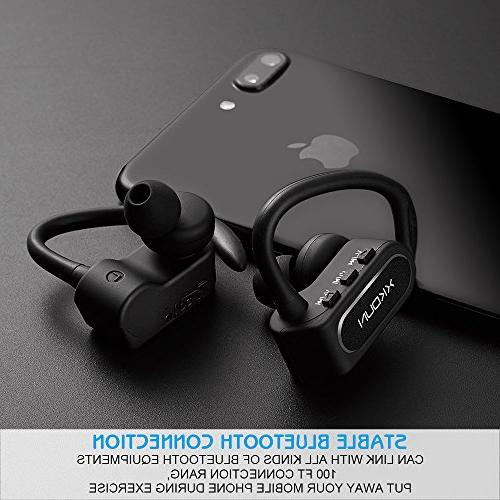 XKDUN Wireless Earbuds Off Bluetooth Exercise with HD Stereo Sound in Ear with Hrs Running Gym Android