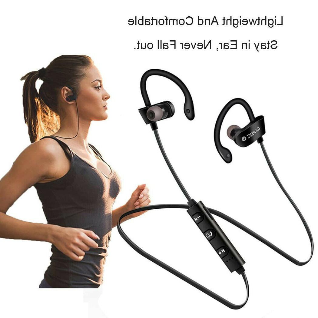 Sweatproof Headset Sport Headphones Earbuds