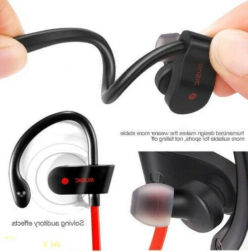 Sweatproof Sport Headphones Earbuds