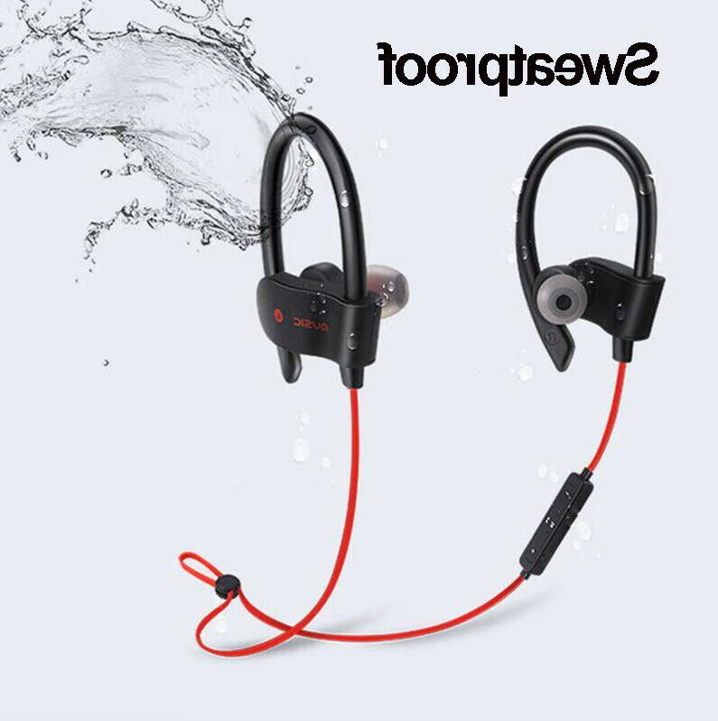 Sweatproof Sport Stereo Headphones Earbuds