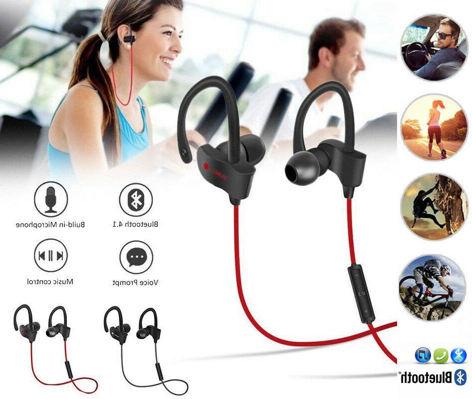 sweatproof bluetooth headset wireless sport stereo headphone