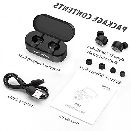 Mpow T1 TWS Earbuds, Bluetooth 5.0 Wireless Earbuds, Bluetooth Headphones, Charging Clear Chat Cell