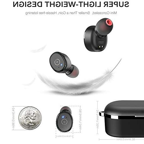 TOZO 5.0 【True in-Ear Wireless Charging Case Built-in Sound Deep Bass for