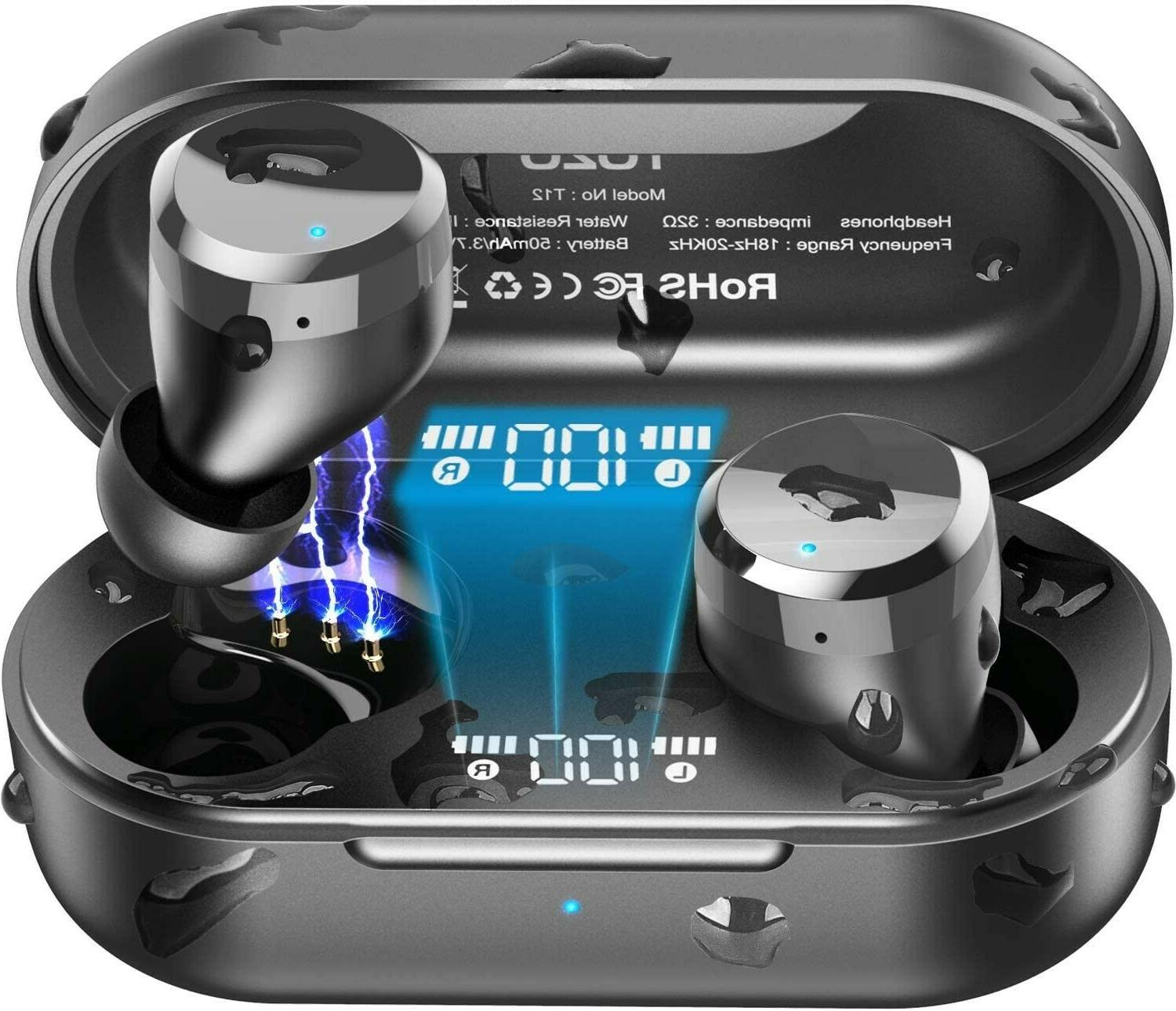 t12 wireless earbuds bluetooth headphones w touch