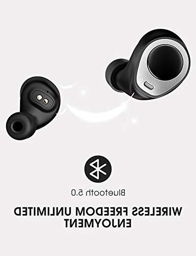 Mpow True Wireless Earbuds, IPX5 Bluetooth Earbuds, Wireless Headphones with Charging Case for iPhone, iPad,