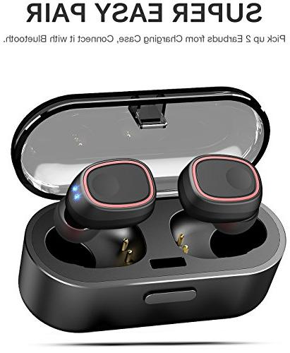 TOZO T8 Stereo in-Ear with Charging Case Built-in Mic Premium Sound with for Running Sport - Super Easy