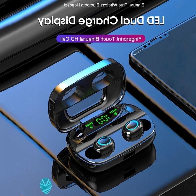 Touch Earphone 5.0 <font><b>Bluetooth</b></font> Headphones HiFi Stereo Noise Power