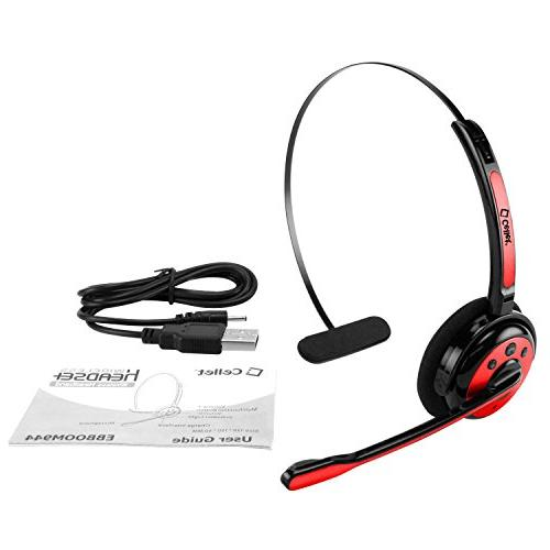 Cellet Headset/Cell Phone Microphone, Wireless Headset, On Ear Car Headphones Skype, Center.