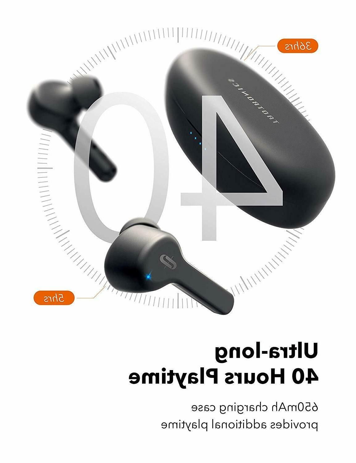 TaoTronics Wireless Earbuds with Charging case