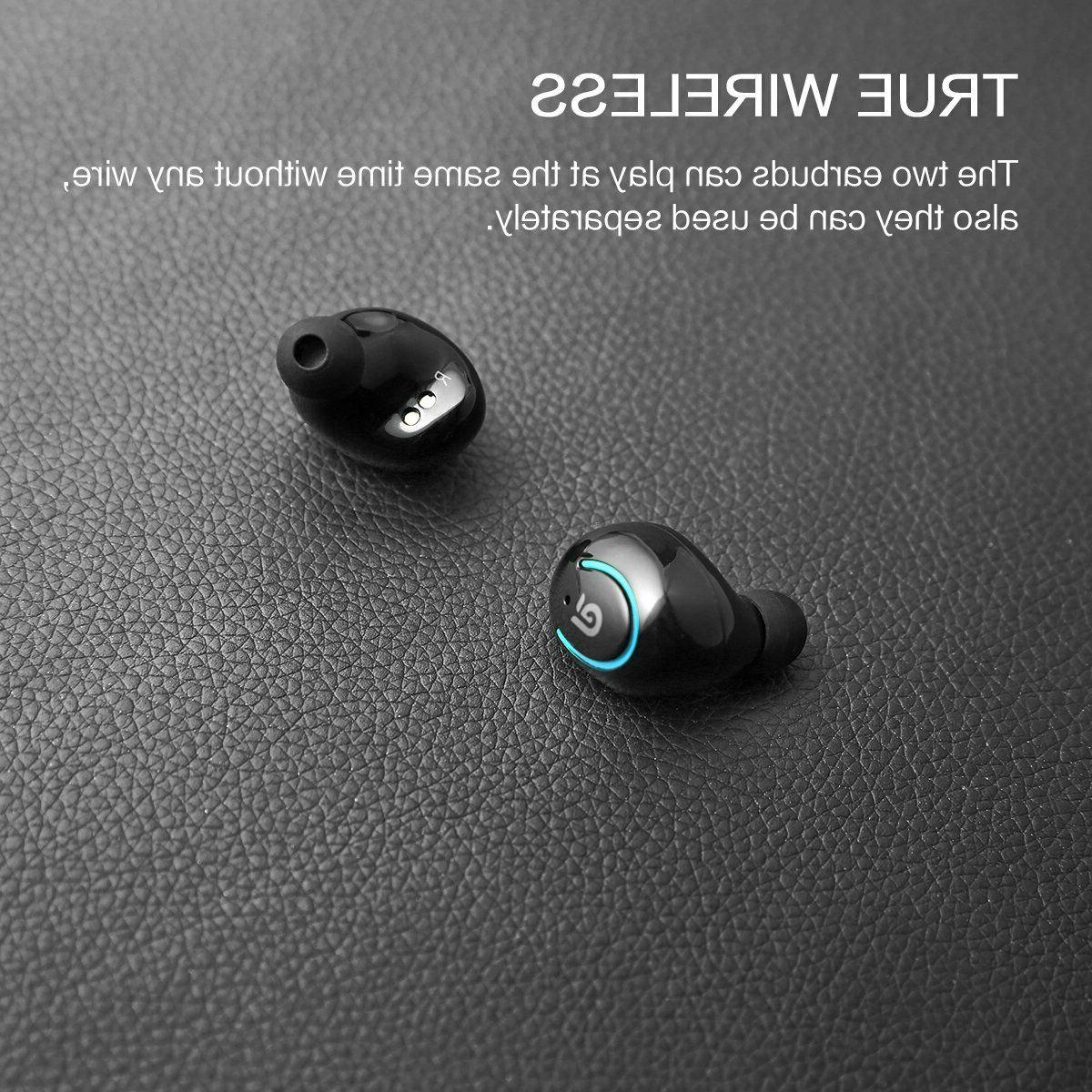 True Wireless Earbuds, Kissral with Built-in