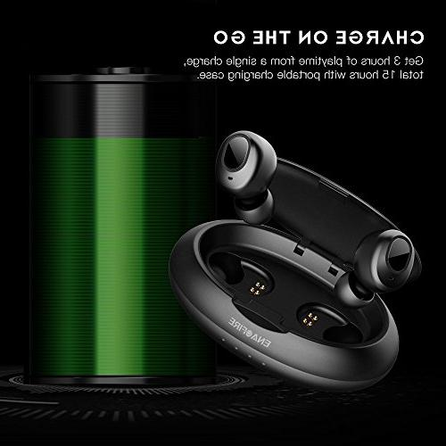 Upgraded Wireless Earbuds, ENACFIRE Wireless Bluetooth 15H Playtime Deep Bass HiFi Stereo Built-in with