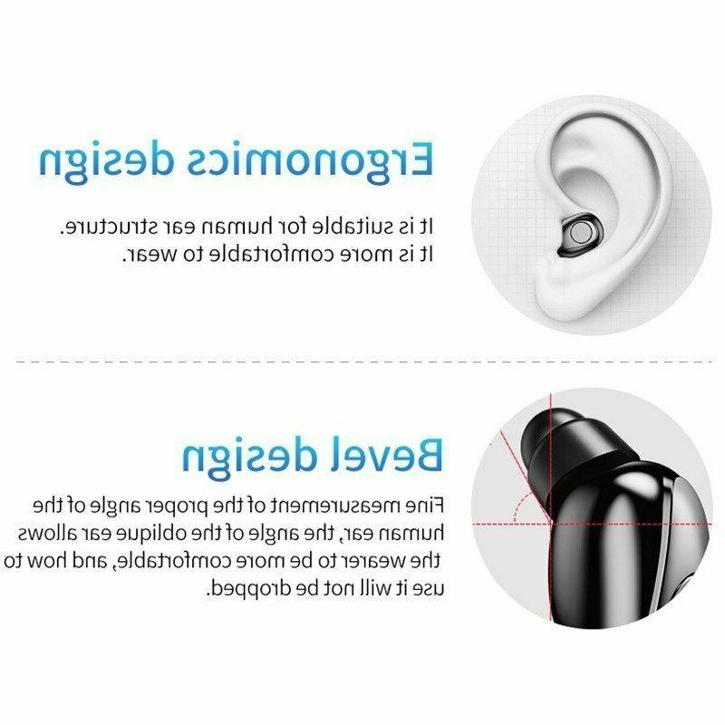 US Bluetooth Earbuds Earphones Wireless Noise Cancelling