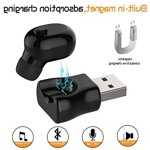 Waterproof Earbud, Wireless Bluetooth 6-Hr Playing Time Phone iPhone and Android Smart