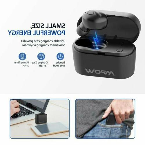 Mpow Single Bluetooth V5.0 Earbud Wireless Earphone Earpiece