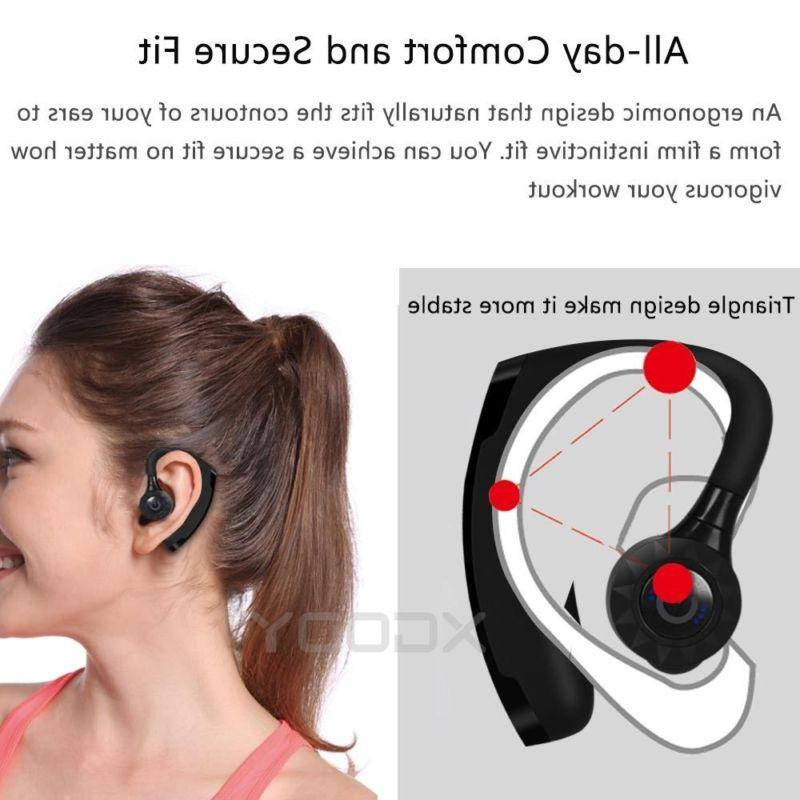 Wireless Bluetooth Earbuds w/ Mic Bass Stereo