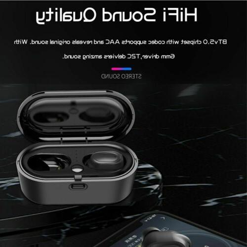 Wireless Bluetooth Earbuds5.0 Noise W/Charge