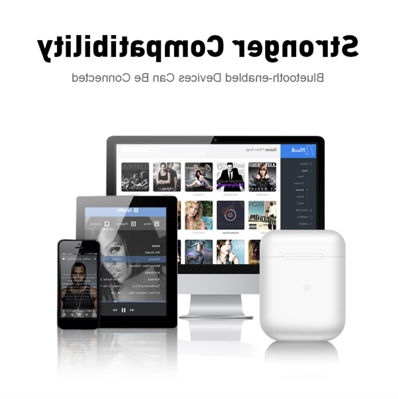 Wireless Bluetooth Compatible With iPhone AirPods 2 iPad