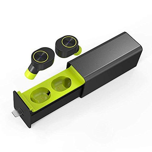 SODIAL Earbuds Earphones Wireless Headphones,Smallest for Most Android