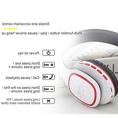 Kobwa Headphones, Bass Headset With Volume Control, TF MP3 Player, Wired PC