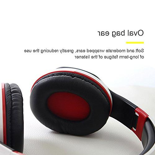 Kobwa Bluetooth Headphones, Portable Bass With Mic, Volume Control, PC Smartphone