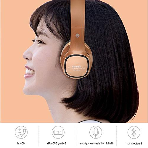 Kobwa Wireless Headphones, Foldable Bass Headset With Mic, Volume Control, TF Card, MP3 Player, Wired PC