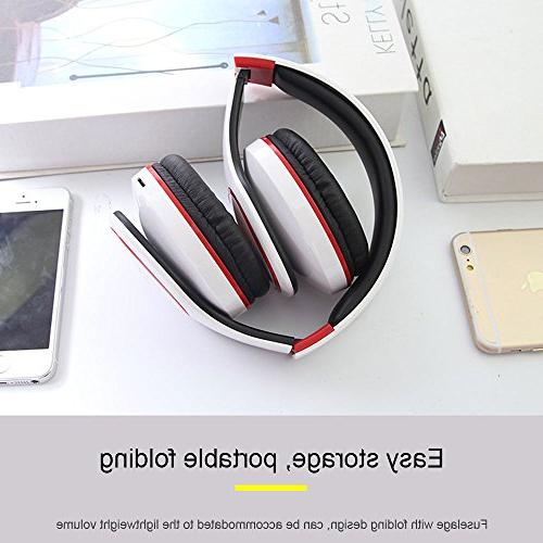 Kobwa Headphones, Portable Bass Headset Volume Control, TF MP3 Wired Earphone PC Smartphone