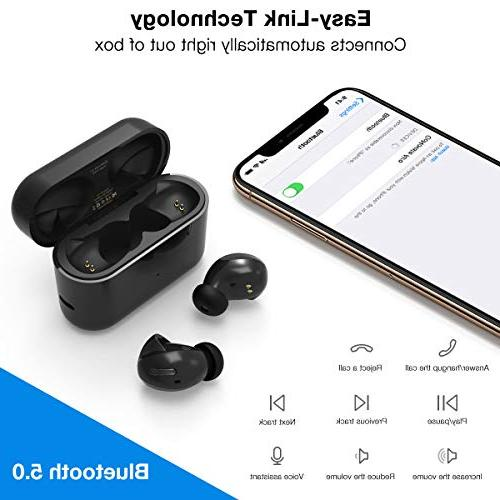 Wireless GoNovate True Wireless 5.0 Earbuds 36 Sound, with Noise Sweatproof with Charge