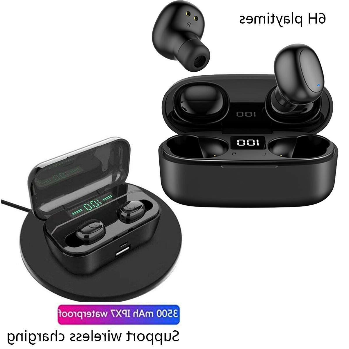 wireless earbuds bluetoot headsets compatible with apple