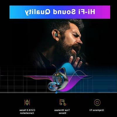 Wireless Earbuds Bluetooth Headphones with 3000mAh Case IPX7 NEW