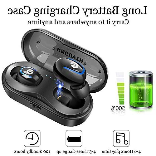 Wireless Stereo Invisible In Ear Sweatproof Charging Case Compatible with Samsung Android