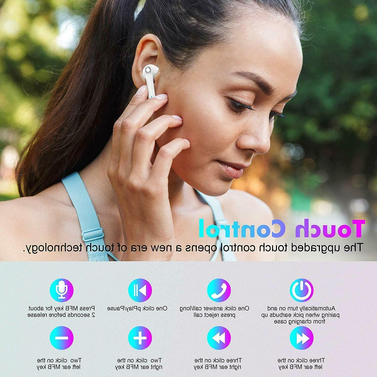 Wireless Bluetooth Headsets Compatible With iPhone AirPods