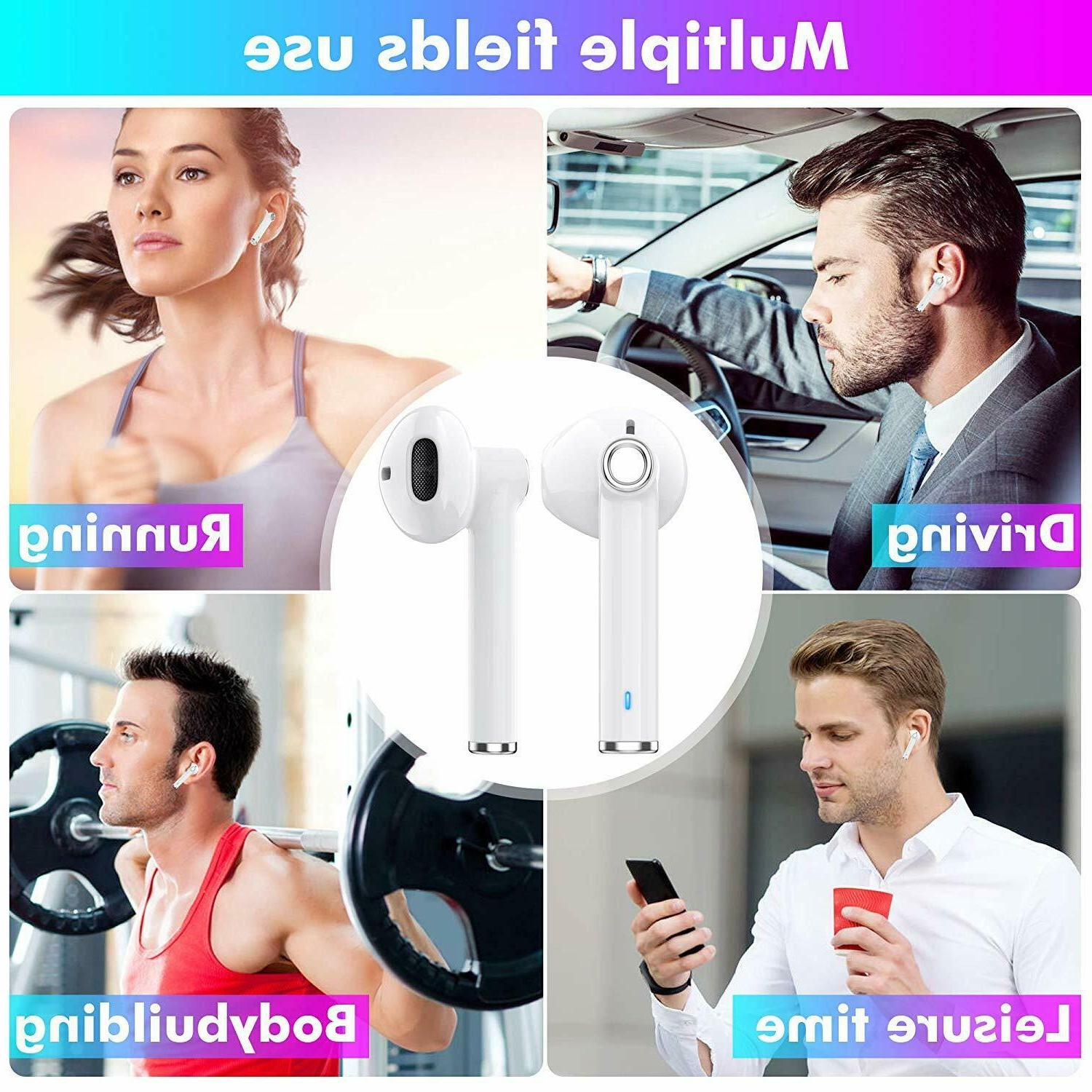 Wireless Bluetooth Headsets Compatible With Apple AirPods 2