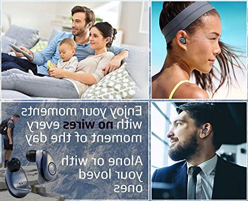 Bluephonic True - Latest Bluetooth Mini Ear 3D Play Time, Sports Earphones Microphone & Dual for Calls